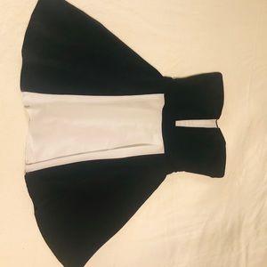 Akira Black Label Dress Black/White Size Small